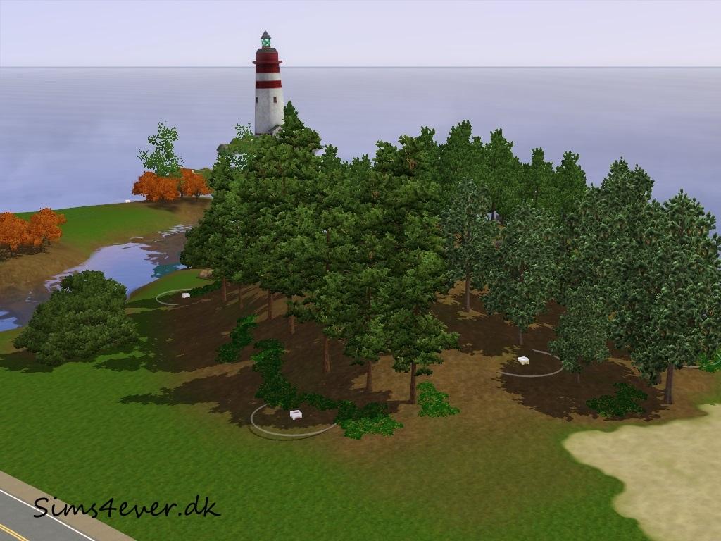 Skotland med fyrtårnet i baggrunden