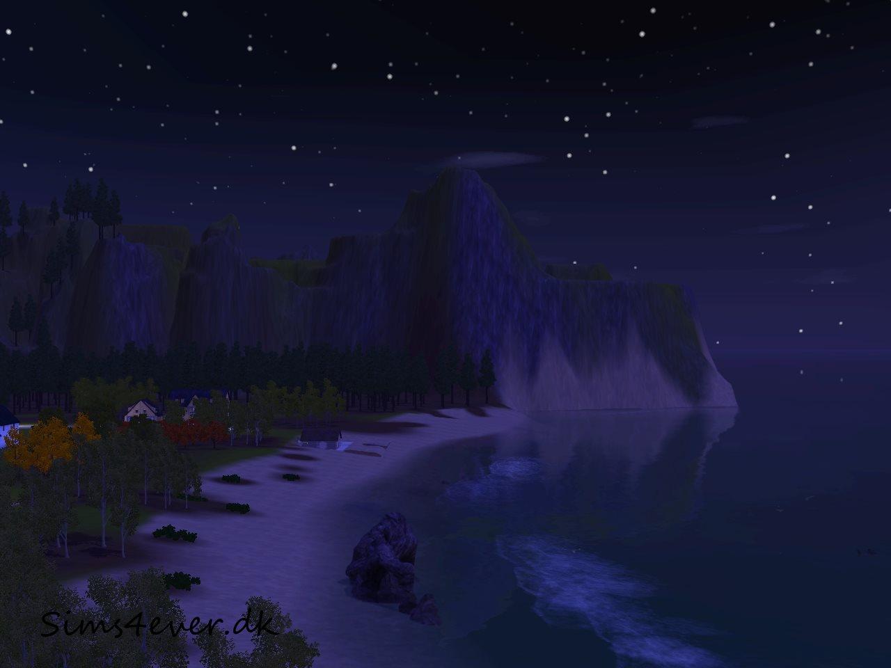 Stranden om aftenen
